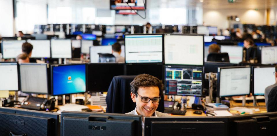 Salle de trading Total de Londres