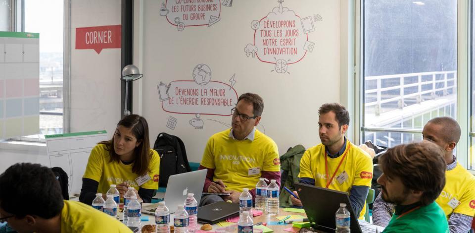 Challenge Innovathon GRP au Booster, lab innovation. Tour Michelet, La Défense