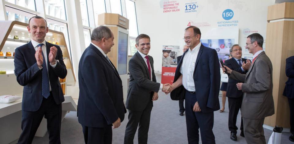 Inauguration du Bâtiment Innovation le 30 mai 2017 , en présence de Philippe Montantême, showroom. CRES, Solaize.