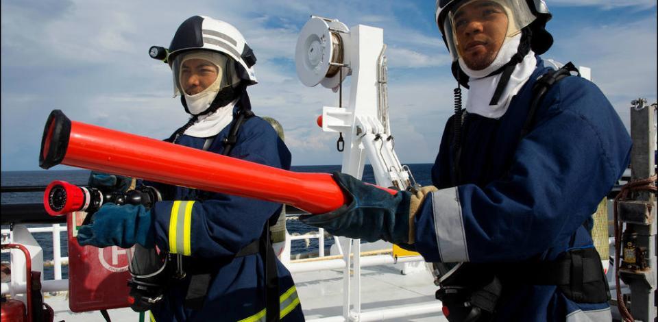 Sur le Polarcus Nadia pendant la campagne sismique. Audit sécurité mené par David Albert HSE TotalEnergies E&P