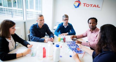 Réunion équipe Market Development : qualité produits (Polymères), Centre de recherche de Feluy
